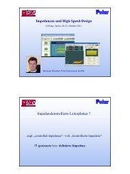 Impedanzen und High-Speed-Design ... - CONday 2011