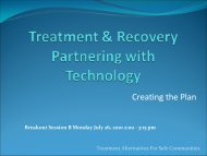 B-10.0 Treatment and Recovery Partnering with Technology ...