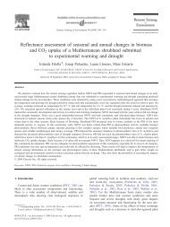 Reflectance assessment of seasonal and annual changes ... - CREAF