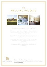 WEDDING PACKAGE - Classic Lodges