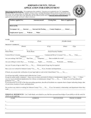 general employment application mumford texas independent