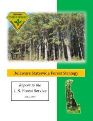 Statewide Forest Strategy - Delaware Department of Agriculture