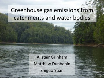 Greenhouse gas emissions from catchments and water bodies