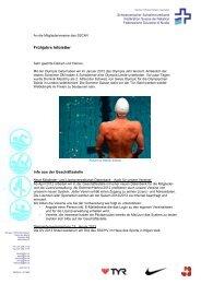 Frühjahrs Infoletter - Schweizerischer Schwimmverband