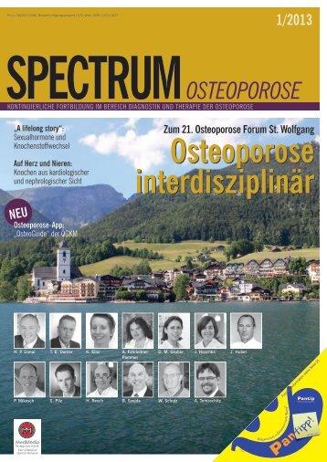SOsteo 1/2013 - Österreichische Gesellschaft für Knochen und ...