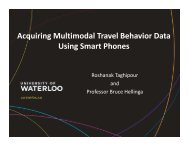 Acquiring Multimodal Travel Behavior Data Using ... - (ITS) Canada