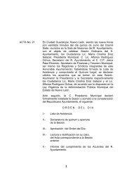 Actas 21 y 22 (Junio de 2007) - Municipio de Guadalupe