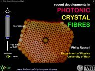 Recent developments in PHOTONIC CRYSTAL FIBRES