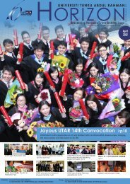 April Issue - UTAR News - Universiti Tunku Abdul Rahman
