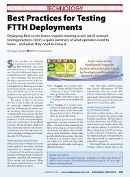 Best Practices for Testing FTTH Deployments - Broadband Properties