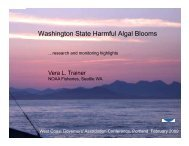Washington State Harmful Algal Blooms - Center for Sponsored ...