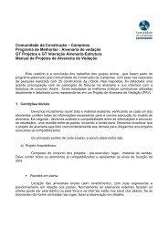 Alvenaria de vedação GT Projetos e GT Interação Alvenaria-E