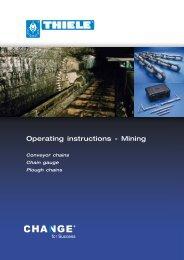 Operating instructions - Mining - Thiele