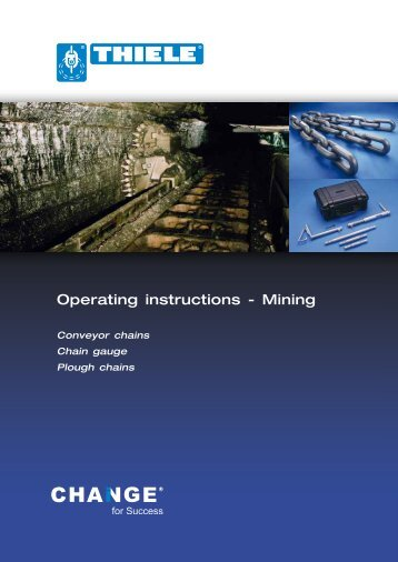 Operating instructions - Mining - Thiele