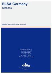 Statutes - ELSA Germany