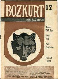 17 Herşey Türk için Türk'e Göre Türk Tarafından ŞUBAT 1974
