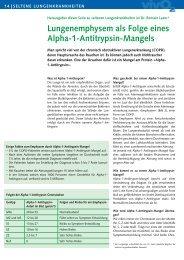 Lungenemphysem als Folge eines Alpha-1-Antitrypsin ... - CHUV