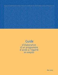 Guide d'élaboration d'un programme d'accès à l'égalité - CDPDJ