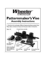Patternmaker's Vise Assembly Instructions - MidwayUSA
