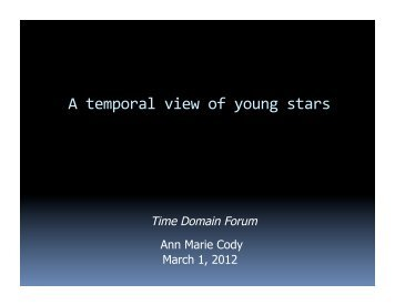 A temporal view of young stars