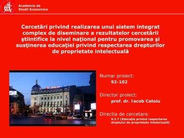 Cercetări privind realizarea unui sistem integrat complex - Prezentare