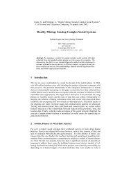 Sensing Complex Social Systems - Human Dynamics Group - MIT
