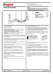 SNAP-ON TRUNKING - Legrand