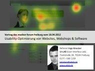 Methode: Usability-Test - beim medien forum freiburg
