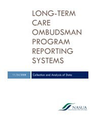 long-term care ombudsman program reporting systems - National ...