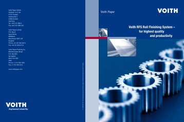 Voith RFS Roll Finishing System – for highest quality and productivity