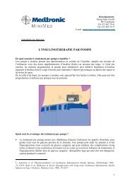 La thérapie par pompe à insuline - Medtronic