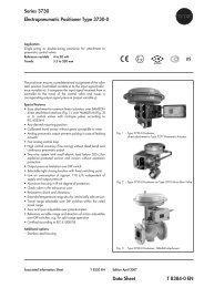 Series 3730 Electropneumatic Positioner Type 3730-0 Data Sheet T ...