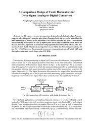 A Comparison Design of Comb Decimators for Delta-Sigma Analog ...