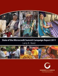State of the Microcredit Summit Campaign Report 2011 ... - weman