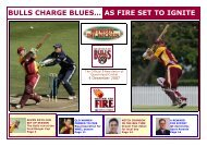 bulls charge blues… as fire set to ignite - Queensland Cricket