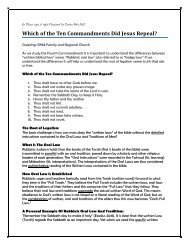 Which of the Ten Commandments Did Jesus Repeal? - Rhm-Net.org
