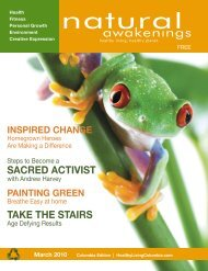 March 2010: Inspire Change - Columbia Natural Awakenings–Home