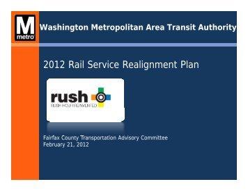 2012 Rail Service Realignment Plan