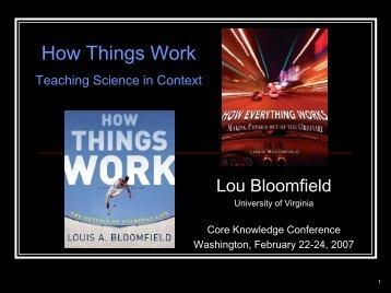 Slides in PDF Format - How Things Work