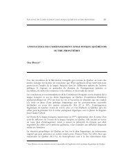 l'influence de l'aménagement linguistique québécoise outre frontière