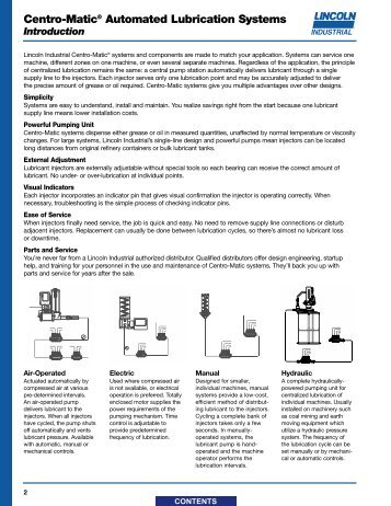 Centro-Matic Lubrication System - Major Furnace Australia provides ...