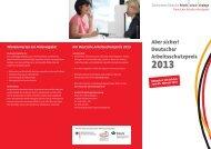 """Flyer """"Deutscher Arbeitsschutzpreis 2013"""""""