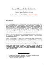 Chantier Â« planification territoriale - Energies d'Avenir