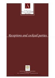 Receptions and cocktail parties - Hotel am Schlossgarten