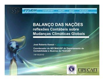 BALANÇO DAS NAÇÕES - Departamento de Geografia - USP