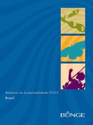 Relatório de Sustentabilidade - Bunge