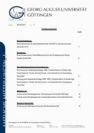 Amtliche Mitteilungen I Ausgabe 1 - Georg-August-Universität ...