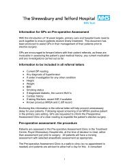 Information for GPs on Pre-Operative Assessment - Royal ...