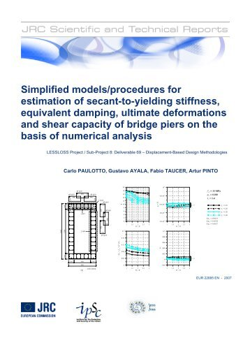 Simplified models/procedures for estimation of ... - ELSA - Europa