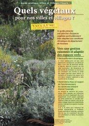 Quels végétaux pour nos villes et villages - Tourisme en Vaucluse
